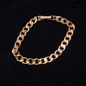 Avon Goldtone Square Link Bracelet